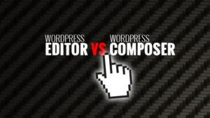Editor vs. Composer! Simple WYSIWYG text editor against Drag'n'drop plugin