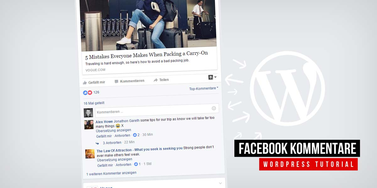 Facebook comments for WordPress - app creation, code integration and moderation