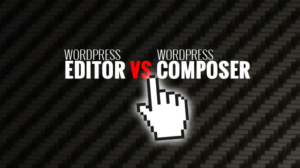 Editor vs. Composer! Simple WYSIWYG text editor against Drag'n'drop plugin