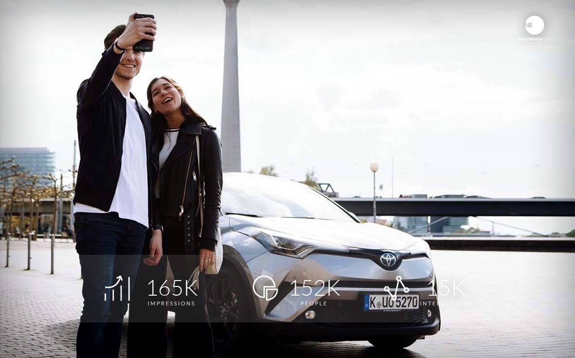 Test drive in the new Toyota C-HR Hybrid, today with Influencer!