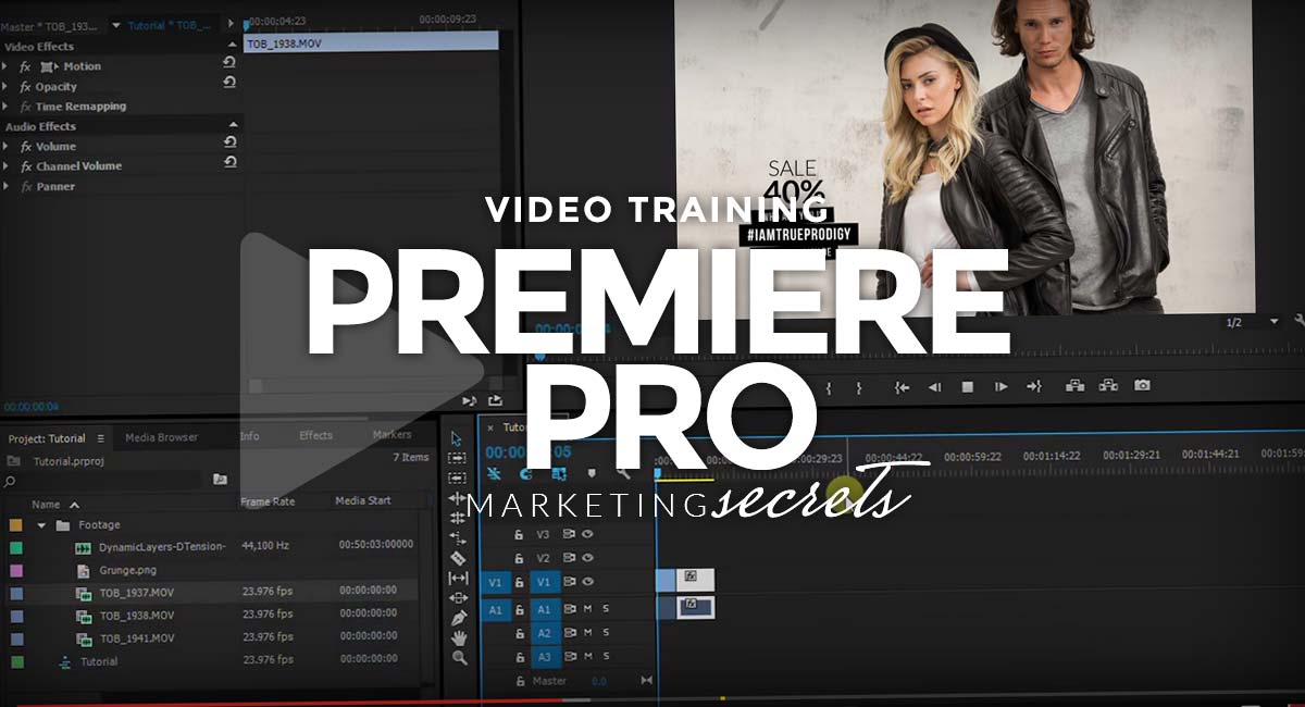 Adobe Premiere Pro - Video training for beginners: From autocorrecting to editing