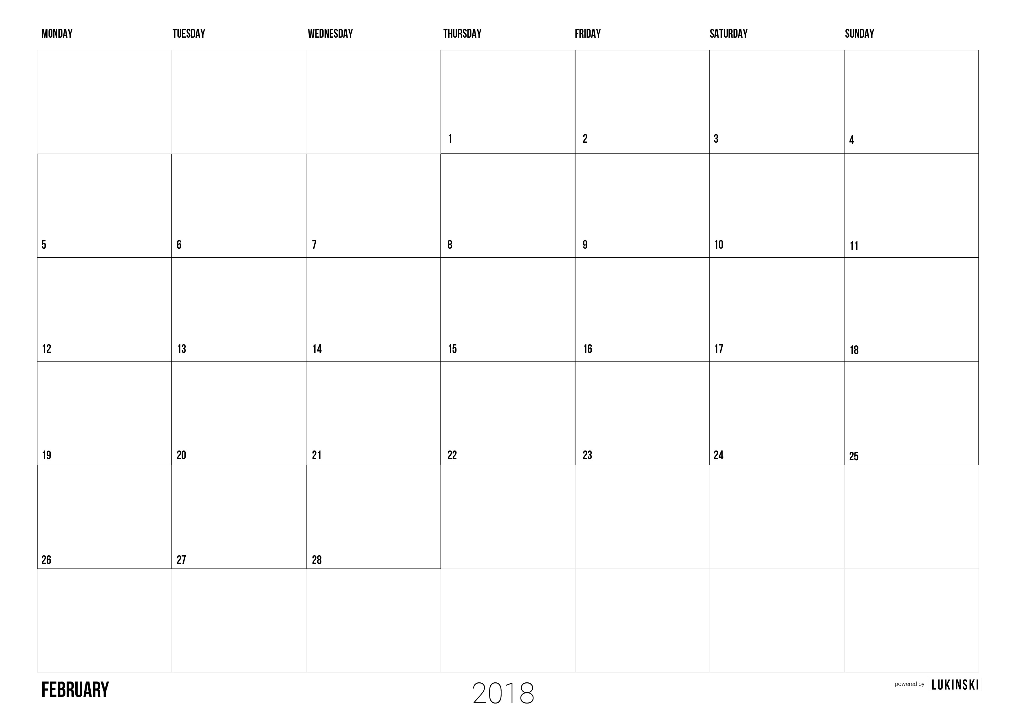 calendar 2018 to print pdf monthly calendar free for team and