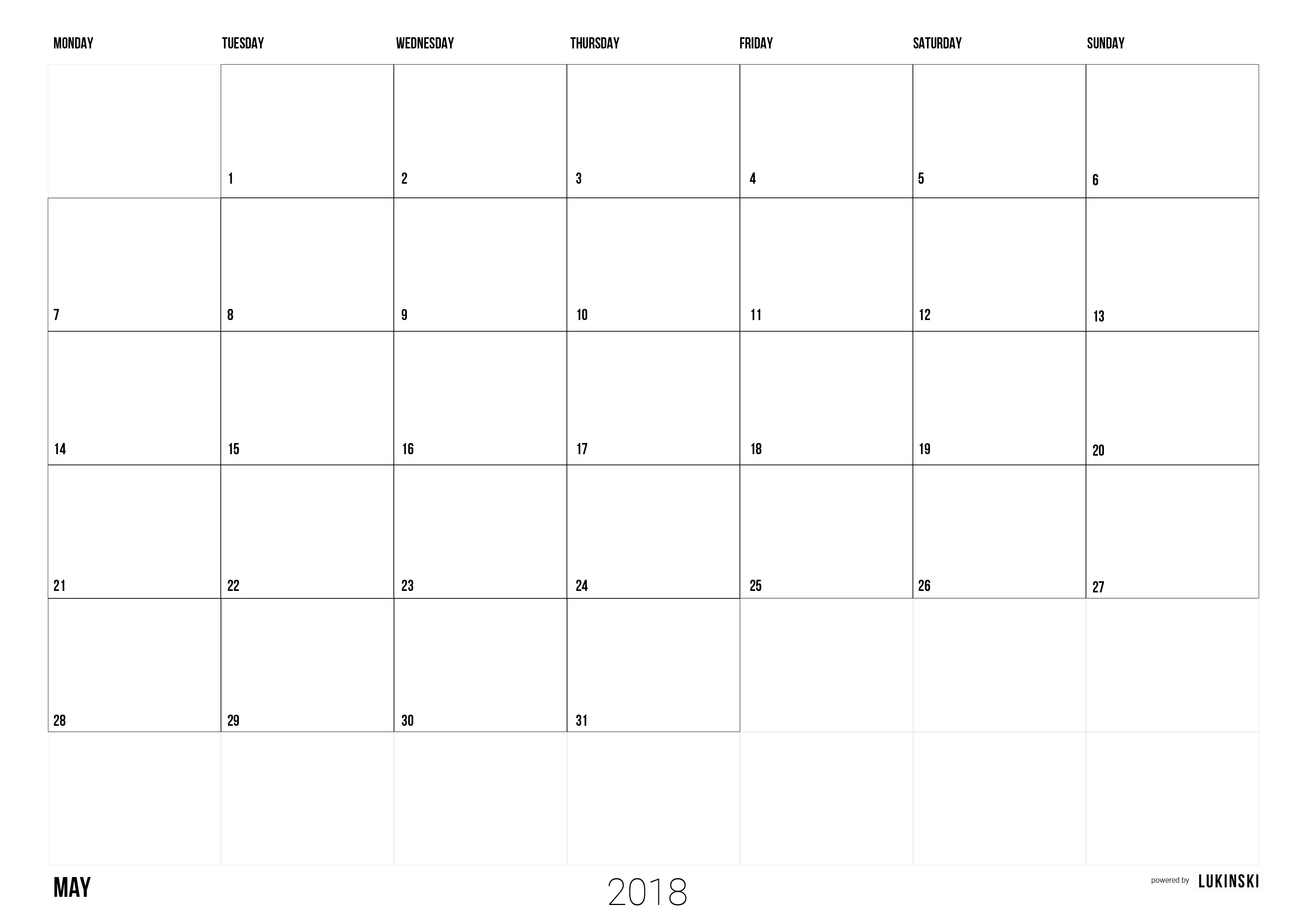 Calendar Ideas For May : Calendar to print pdf monthly calendar free for team and