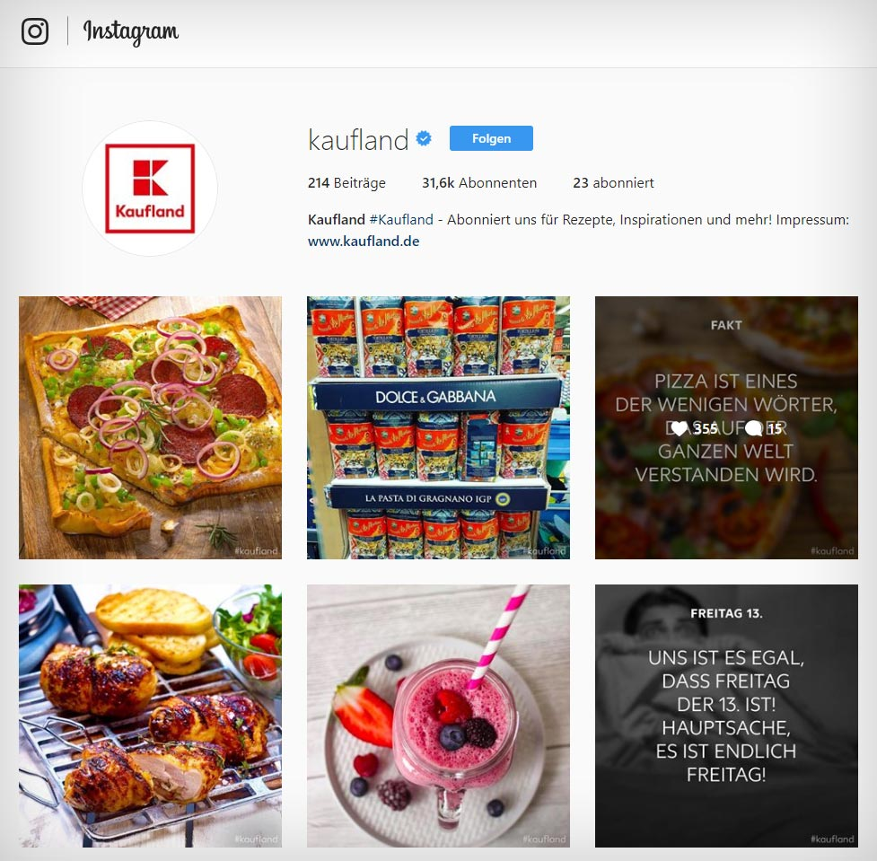 Online Supermarket Check Germany! Food on Instagram: Who is