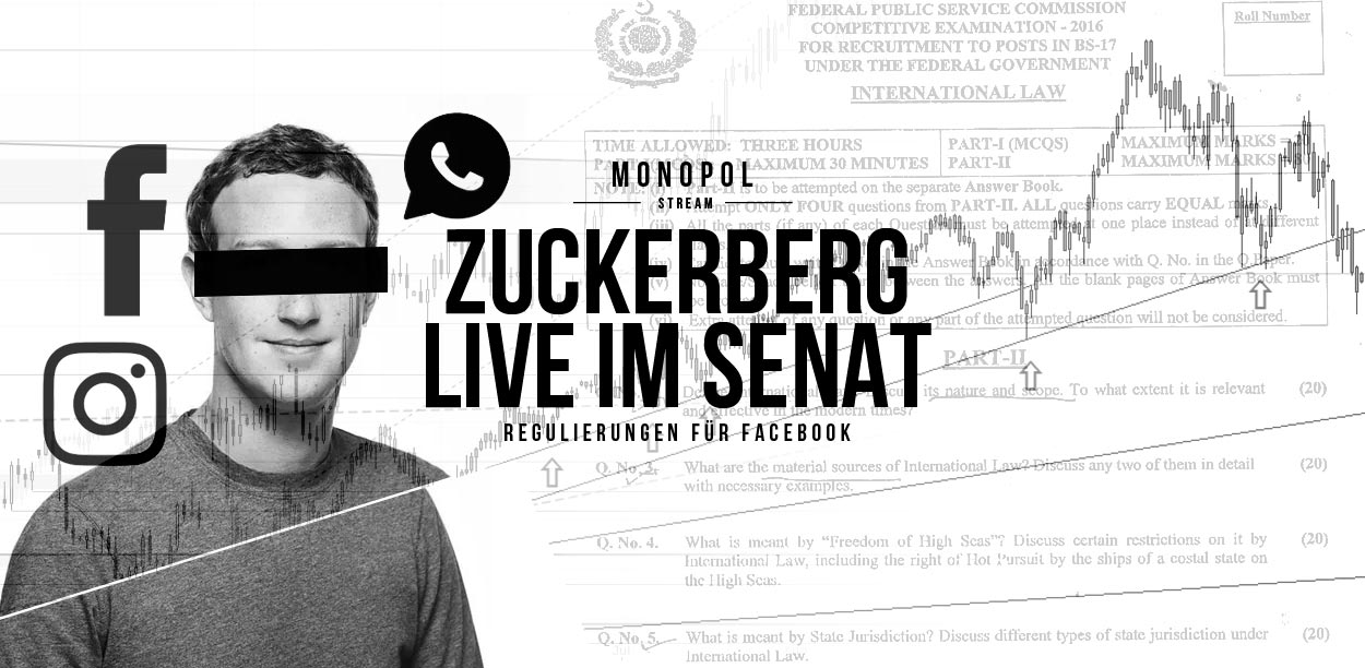 Mark Zuckerberg Live in front of the US Senate: Data scandal around Cambridge Analytica