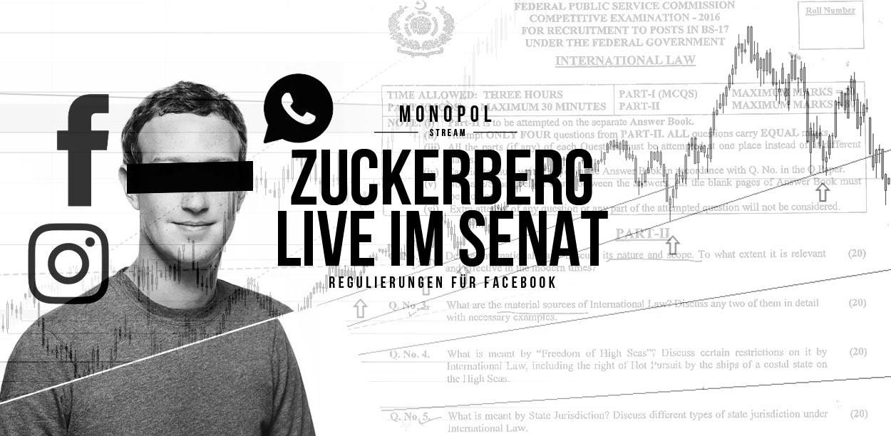 Mark Zuckerberg Live in front of the US Senate: Data scandal around Cambridge Analytica