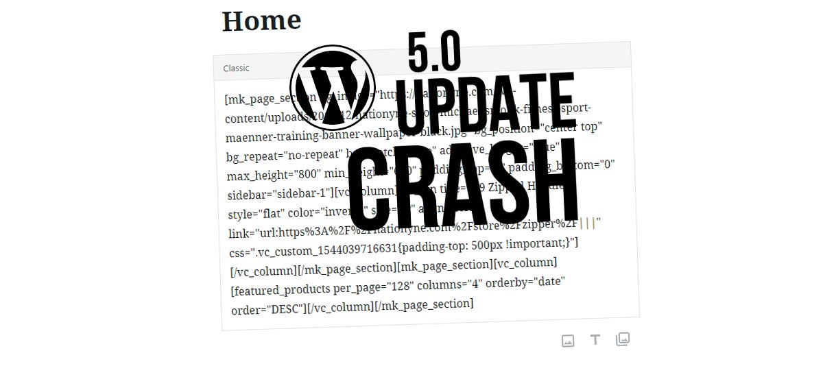 WPBakery page builder is no longer working? WordPress 5.0 Update